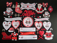 *48* BABY'S 1st CHRISTMAS SCRAPBOOKING EMBELLISHMENTS. BABY 1st XMAS CARDMAKING
