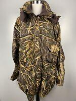 Vtg Herter's Men's XXL Tall Mossy Oak Shadow Grass Camo Hunting Full Zip Jacket