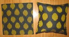 2 UZBEK SILK IKAT FABRIC PILLOW CASES ORIENT 7402-7459
