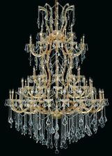 "Palace Maria Theresa 61 Light 72"" H Crystal Chandelier Light in Gold"
