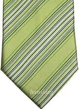 NEW 100% SILK MEN'S NECK TIE mint green pattern stripes wedding formal prom