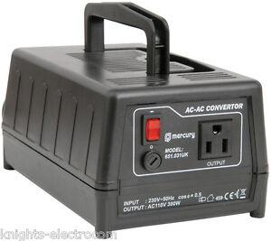 300W UK to US Stepdown Voltage Converter / Transformer  230v to 110v USA adaptor