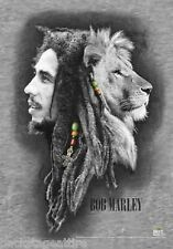 Bob Marley Profiles Lion Reggae 30x40 Cloth Poster Flag Fabric Wall Banner-New