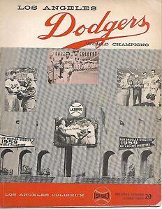 1960 Los Angeles Dodgers-Cubs Program Cubs Outslug Dodgers for Win!!
