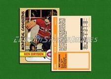 Ken Dryden - Montreal Canadiens - Custom Hockey Card  - 1971-72