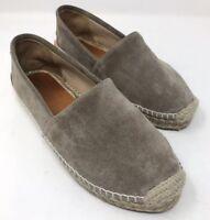 RARE $249 Rag & Bone Noa Espadrille Gray Suede Platform Slip On Shoes 37.5 7.5