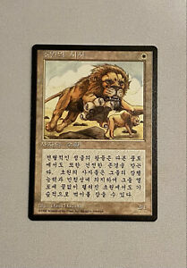 Savannah Lions FBB 4th Edition Korean MTG NM Magic the Gathering Beta