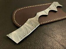 Handmade Pattern Welded Damascus Steel Straight Razor-kamisori-Cut Throat-xd1