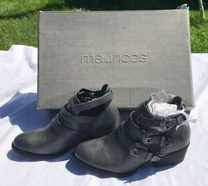 Maurices Ankle BOOT Shoe with Triple Buckle - Women Size 5 M