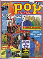 Pop mit Melody Maker Nr.8/9 von 1979 mit Riesenposter Teens, Sweet, Abba.. - TOP
