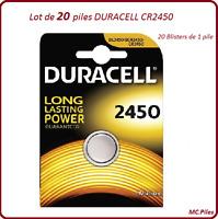 Pack von 20 Knopfbatterien CR2450 Lithium Duracell