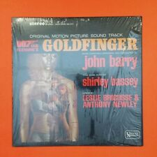JAMES BOND 007  Golfinger  LP Vinyl VG++ Shrink  Shirley Bassey Barry UAS5117