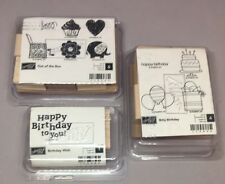 3 Stampin Up Sets Bitty Birthday Wish Out of the Box cake presents elephant ball