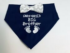 Big Brother Dog Bandana, Gender reveal, Only Child, Baby, Pregnancy announcement