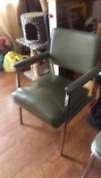 Vintage MCM (1955) Steelcase Armchair - Chrome and Leather