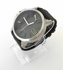Puma Herren Uhr Ultrasize grün silber Silikon sportlich PU103461013