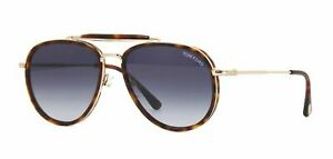 Authentic Tom Ford Tripp FT 0666 54W Red Havana Sunglasses