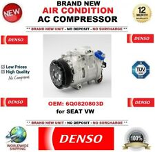 DENSO AIR CONDITION AC COMPRESSOR OEM: 6Q0820803D for SEAT VW * BRAND NEW UNIT *