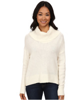 Michael Kors Cowl Neck Elliptical Hem Sweater Women's size XL Cream