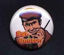 SGT.BENTON - DOCTOR WHO SUGAR SMACKS 'TRIBUTE' 25mm small badge button pin