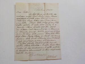 Antique Letter 1800s Negroes Southern Democrats Ohio VTG Vicksburg Mississippi