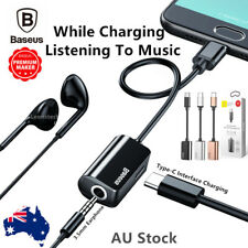 Baseus ® 2in1 Type-C to 3.5mm Earphone AUX charger Adapter For Samsung S9 Huawei