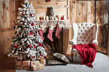 Christmas Sock Photography Background Vinyl Christmas Tree Photo Backdrop 7x5FT