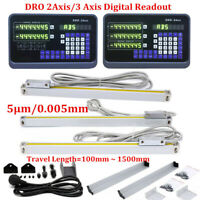 2/3 Axis Digital Readout TTL Linear Glass Scale DRO Encoder for Milling Lathe