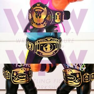 Belts for WWF WWE Hasbro Galoob Mattel Jakks Figures - 1xEagle 1xIC 2xTag WFW