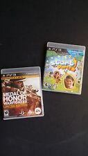 Lot of 2 PS3 Games Medal of Honor: Warfighter Limited Edition Start the Party