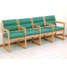 wooden mallet valley four seat chair wcenter armslight oak dw14lofg chair