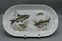 Kahla großer Fischteller / Servierplatte / Servierteller mit Fischmotiv 32,5 cm