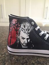 THE LOST BOYS inspired  CUSTOM HAND PAINTED HIGH TOPS MADE TO ORDER