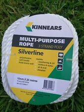 KINNEARS Multi-Purpose Rope 3 Strand Poly Silverline 10mm x 20M While