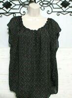 Lauren Conrad Top Size XL Short Sleeve Multi Colored  Round Neck Blouse
