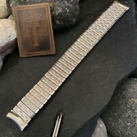 "rare 5/8"" Kreisler USA Made Stainless Steel nos 1960s Vintage Watch Band 16mm"