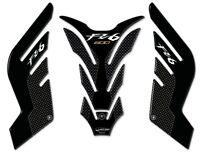 Adesivi serbatoio in resina stickers 3D per moto compatibili Yamaha FZ6 carbon