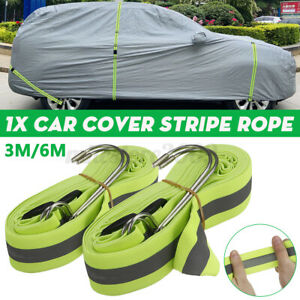 Car Boat Cover 3M / 6M Elastic Adjustable Reflective Stripe Rope Outdoor