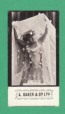A. BAKER & CO. LTD.  -  VERY RARE ACTRESS ' BLARM ' CARD  -  V.  PETIT  -  1900