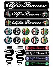 Alfa Romeo Aufkleber Sticker 1 Satz 19 Stücke