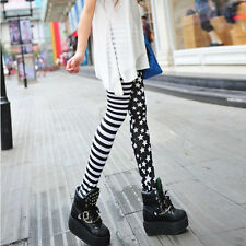 1pc Punk Style Leggings Sexy Stretchy Pencil Skinny Pants Personality Womens