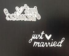 Artesanías Metal recién casados boda frase sentimiento DIE Cutter