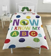 The Very Hungry Caterpillar 'ABCs' Single Duvet Cover Reversible Bedding Set