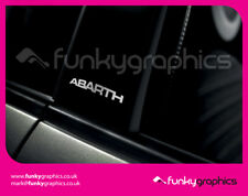 FIAT 500 ABARTH CURVED PILLAR STICKERS GRAPHICS DECALS x3 GLOSS SILVER