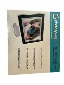 "NEW PhotoSpring PS1010"" WiFi Digital HD Photo Frame + Album - Black"