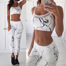 Women Fitness Sport Yoga Set Running Bra Pants Gym Workout Cloth Tights Wear Top
