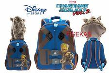 "Disney Store Marvel Guardians Galaxy Rocket Raccoon Hooded Backpack 15"" 2017 NEW"
