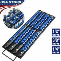 80 Piece Heavy Duty ABS Socket Organizer Tray Rail Rack Holders Set 1/4 3/8 1/2