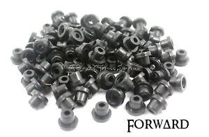 100 Black Tattoo Machine Rubber Grommets Forward Tattoo Supply Parts USA
