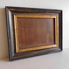 Cadre en bois massif avec vitre en verre vintage